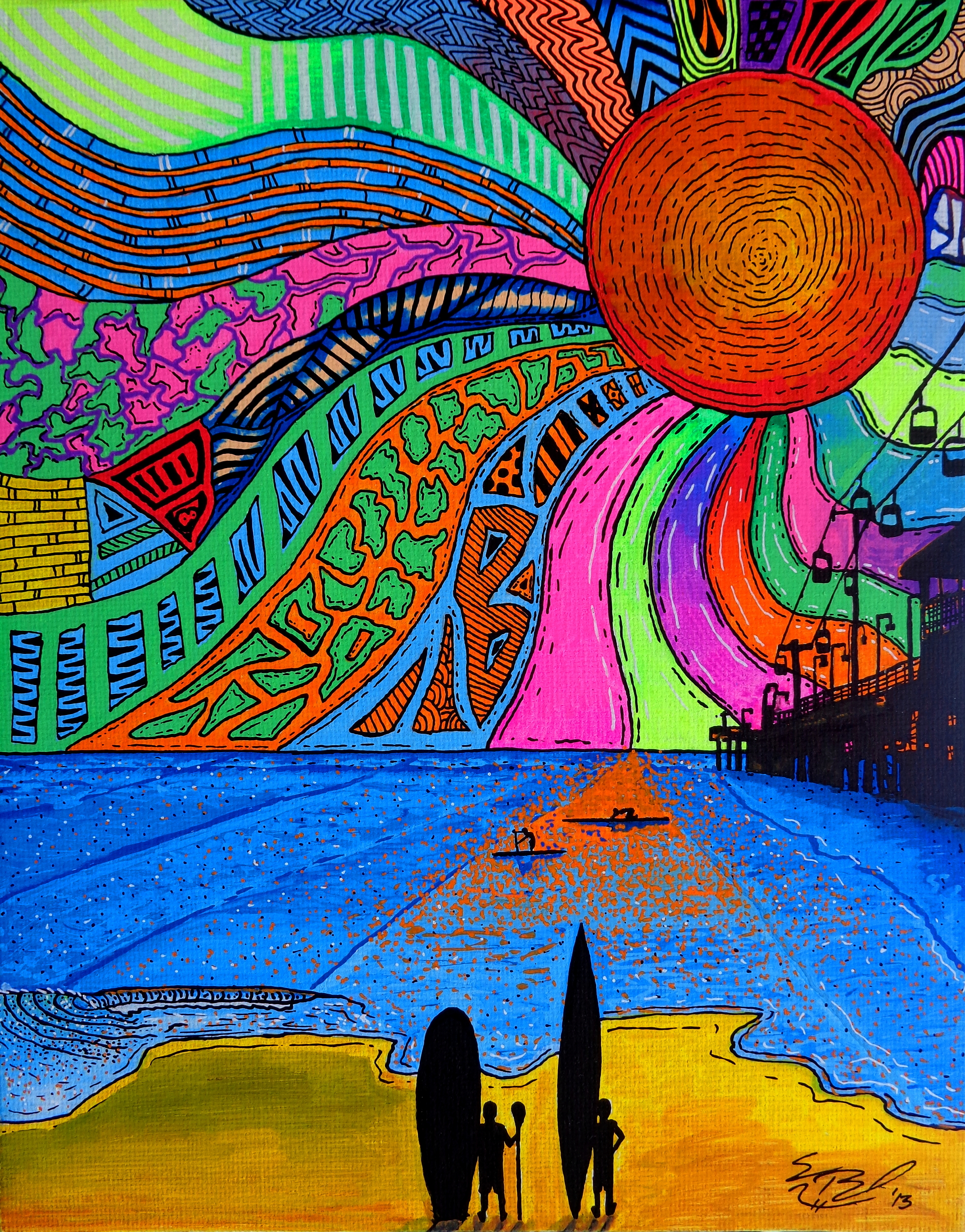 Items similar to Kaleidoscopic King (Psychedelic Lion ... |Crazy Trippy Drawings