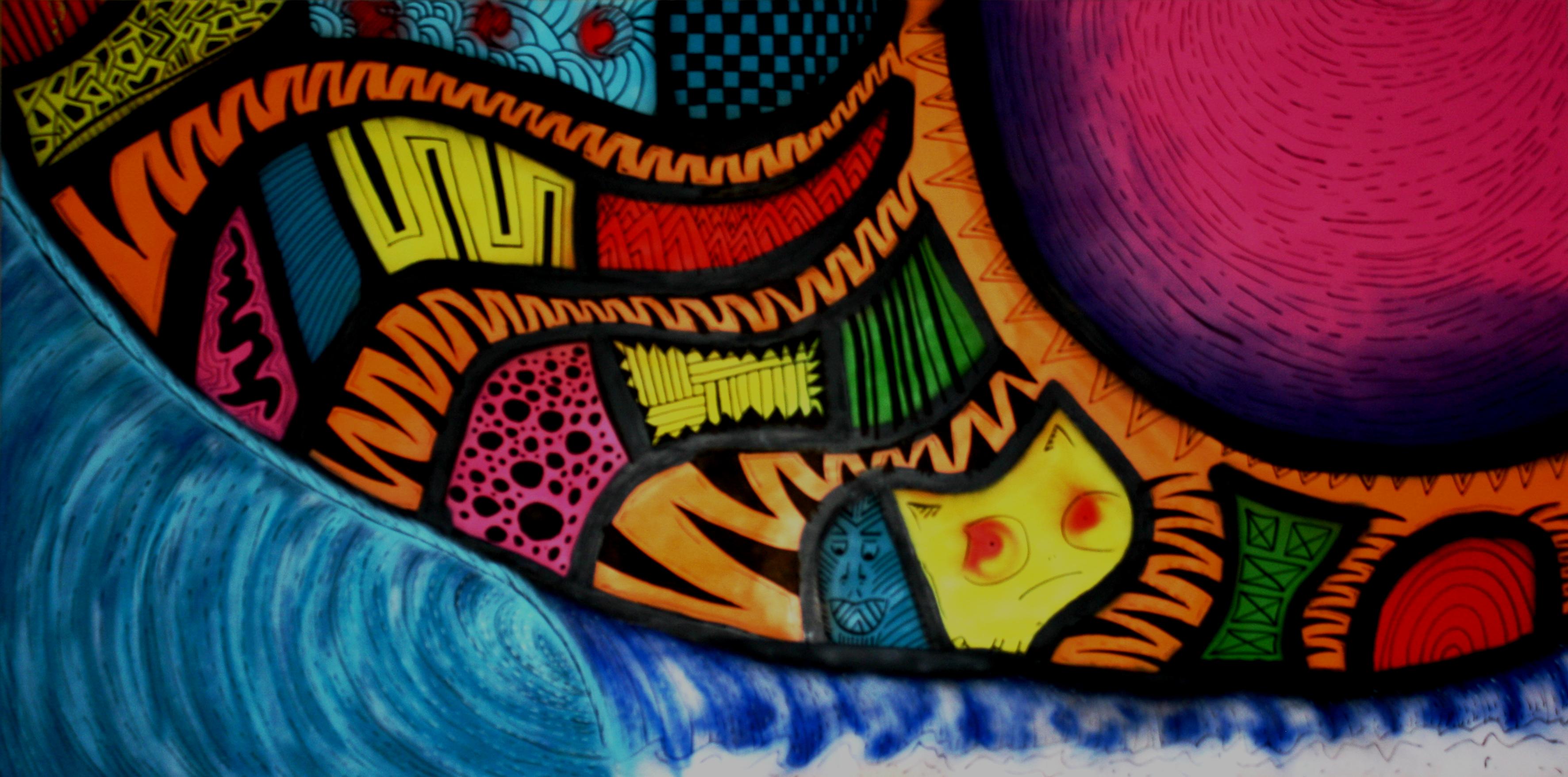 My first surf art mural sam bernal high energy surf art for Mural alternatywy 4